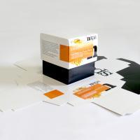 Cardboard with shiny UV varnish