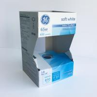 Cardboard sleeve for bulb packaging