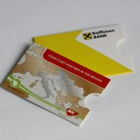 Cardboard sleeve for standard sized (86x54 mm) plastic cards