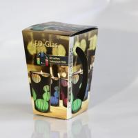 Conical  folding box with shiny dispersion varnishin
