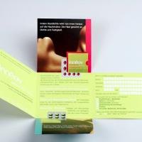 Folded and die-cut brochure