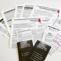 Folded patient information leaflets