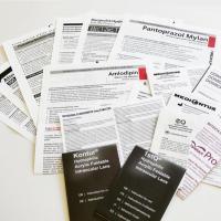 Folded patient information leaflets