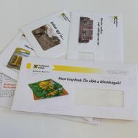 Personalized DM letter in envelope