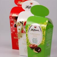 Shiny dispersion varnished, hot-foil stamped confectionery folding box