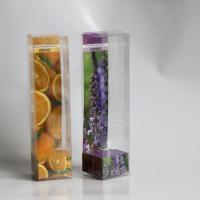 Glued plastic boxes made of transparent PET-GAG  with printed cartboard insert